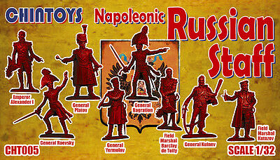 Chintoys 1/32 Napoleonic Russian Staff - BAGGED, NO BOX # 005