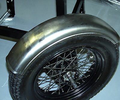 """Round Top & Side Ribbed 6"""" Fender Universal Harley Triumph Xs650 Bobber Chopper"""