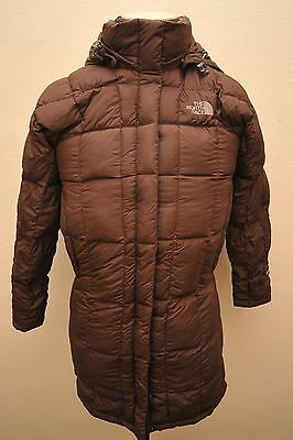 North Face Womens Small Goose Down 600 Brown Long Coat / Parka Gb18
