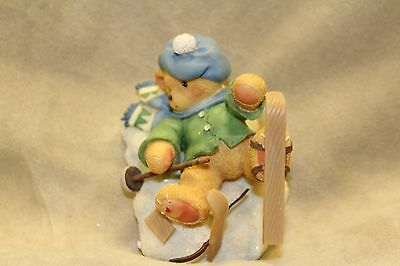 Cherished Teddies SPENCER boy fallen down w/skis head over skis for you 269743