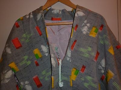 VINTAGE JAPANESE 1950s COTTON KIMONO JACKET SIZE SMALL EXCELLENT  CONDITION