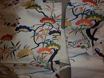 Vintage Japanese Embroidered Silk Obi Sash Excellent  Condition