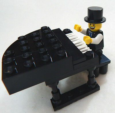 NEW LEGO GRAND PIANO & PIANIST minifig minifigure piano guy musical instrument