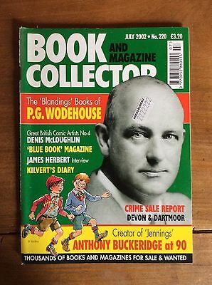 Book And Magazine Collector N°220 Jul 2002 Pg Woodhouse / Anthony Buckeridge