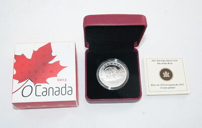 2013 $10 Fine Silver Coin Royal Canadian Mint The Polar Bear OGP - FREE Shipping