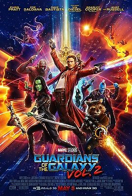GUARDIANS OF THE GALAXY VOL 2 ORIGINAL MOVIE POSTER 2Sided DS FINAL 27x40 MARVEL