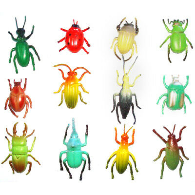 Lot 12 pieces plastic Vivid Animal Small figure Toy Insect Bug Beetles