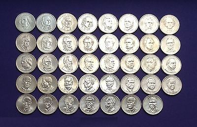 Presidential dollars set of 39 coins (2007-2016). Either all D or all P mint