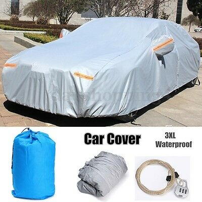 10 Layers Car Cover Outdoor Waterproof Anti-Scratch Rain Snow Sun Resistant 3XL