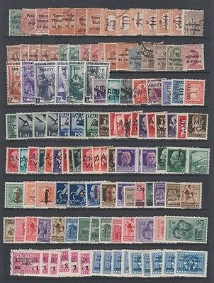 Italy Lot Overprints Mint & Used (Id:469/d45403)