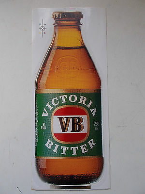 VINTAGE VB Victoria Bitter 1980s - Vinyl Sticker - Original - Bar Collector Door