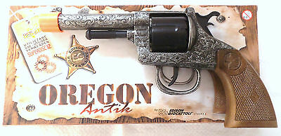 Toy Cap Gun - Oregon Antik - 12 Shot Toy Cap Gun - Edison Giocattoli