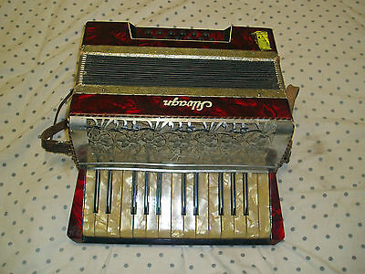Vintage Silvagn Accordion Accordian 15 Key 12 Bass Made In Germany Working Ok