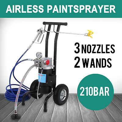 New 210Bar 3045Psi Airless Paint Sprayer Spray Gun Painting Latest Hydraulic