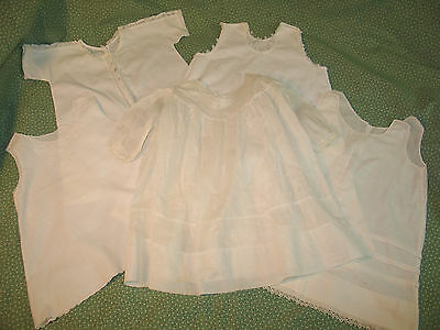 Lot of 5 Antique 1900s~Baby-Doll Dress~Petticoat Embroidery Lace Christening