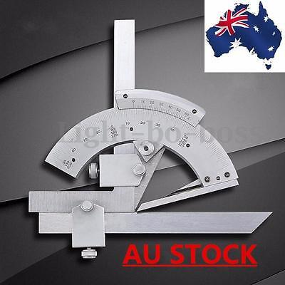 0-320° Precision Stainless Steel Bevel Protractor Scales Angular Dial AU STOCK