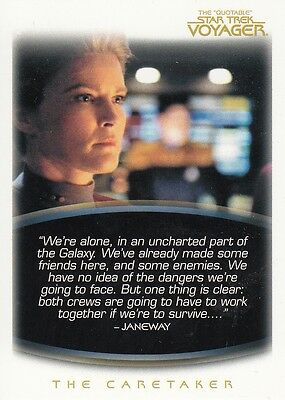 Star Trek Voyager Quotable Trading Card Set (72 Cards)
