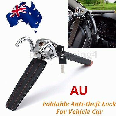 AU Foldable Car Steering Wheel  Anti Theft Security Three-direction Airbag Lock