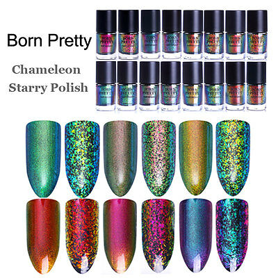 9ml Starry Nail Art Chameleon Polish Laser Sequins Polish Varnish BORN PRETTY