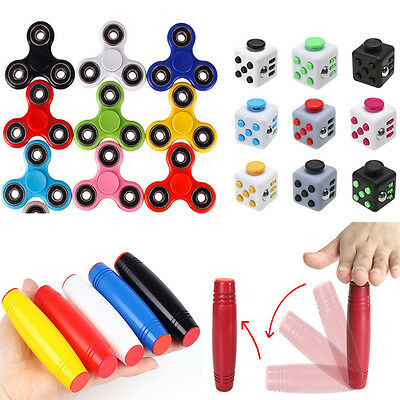 Adults Fidget Cube Spinner Roller Stick Desk Toy Anxiety Stress Relief Cube Kids