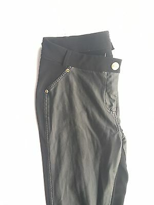 Women's Honey Bun Premium Black Leather Pants SZ XL