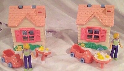 Fisher Price Sweet Streets 1 Girls Club PLAYHOUSE Family COMPLETE Travel Toy EUC