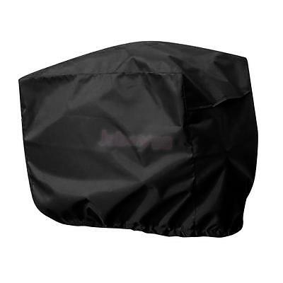 Black Waterproof Outboard Motor Boat Engine Cover Protector fits up to 2-5HP