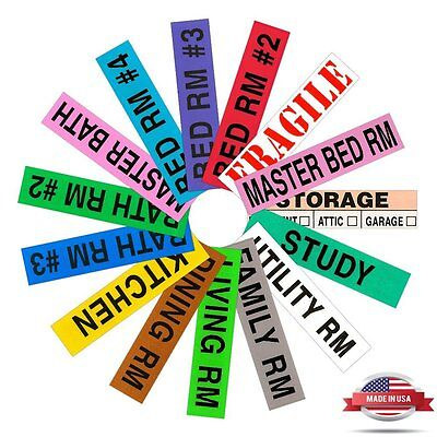 Home Moving Box Labels, 800 Count  House Pack Moving Supplies Packing Stickers