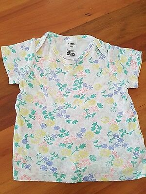baby girls Bonds floral t shirt tee top size 6 to 12 mths 0