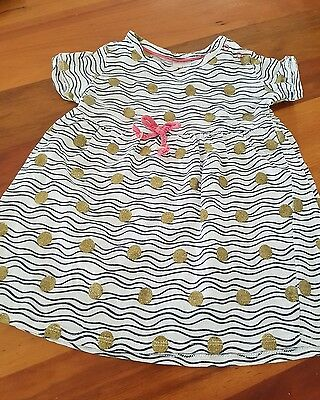 baby girls Target Summer gold polka dot dress size 1 12 months