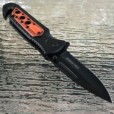 "8"" WOOD TAC FORCE SPRING ASSISTED TACTICAL FOLDING KNIFE Pocket Blade Open"