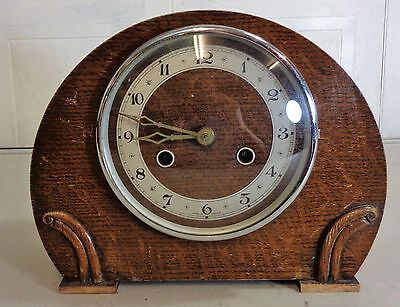 Vintage 1930's English Made Art Deco Chiming Mantle Clock