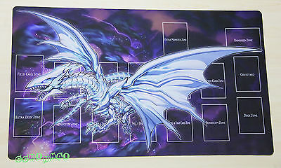 F1312 FREE MAT BAG Blue-Eyes Alternative White Dragon Yugioh TCG Custom Playmat