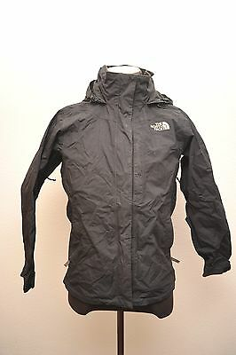 North Face Womens Small Hyvent Waterproof Hiking Jacket Black Fp99