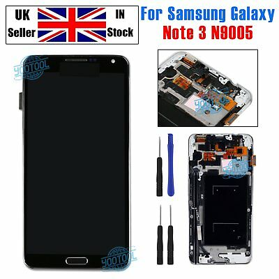 Replacement For Samsung Note 3 Galaxy N9005 LCD Screen Touch Display Black+Frame