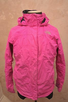 North Face Womens Large Hyvent Waterproof Hiking Jacket Pink Gf20