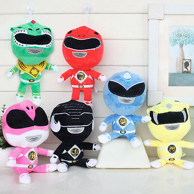 """6x Power Rangers Role Plush Toy Super Heroes Doll Sutffed PlaySet  8"""" Kid Gift"""