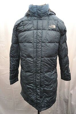 North Face Womens Medium Goose Down 600 Long Walking Jacket Blue Fq20