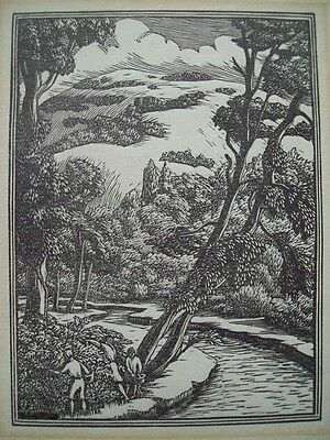 Gwen Raverat - Original Proof Wood Engraving - River Mole (No Signature)