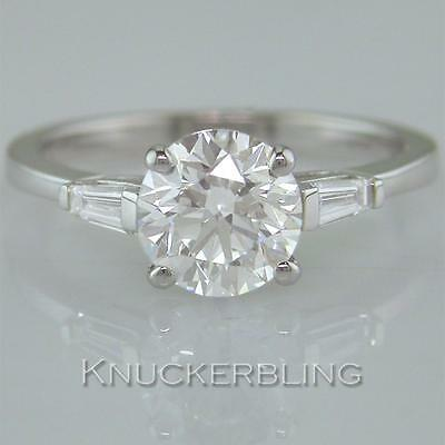 Diamond Solitaire Ring 1.40ct Certified D Exc Exc Exc Brilliant  18ct White Gold