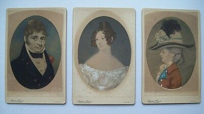 THREE IRISH PORTRAITS by WERNER & SON DUBLIN CIRCA 1890s - GENTLEMAN & LADIES