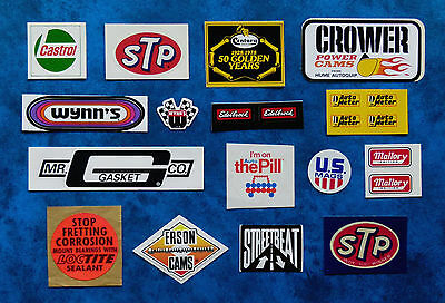 Collectable  1970,s  Vintage  racing stickers ..  HardHat .. ToolBox ..
