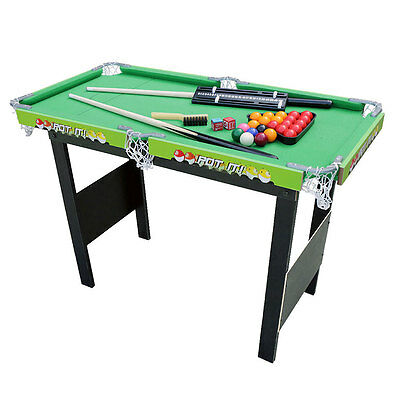 3ft snooker Billiard Pool table with Green Cloth Kids Gift Toy