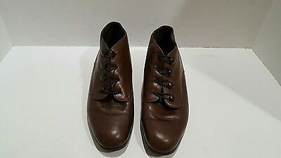 munro womens brown leather ankle boots size 7 B