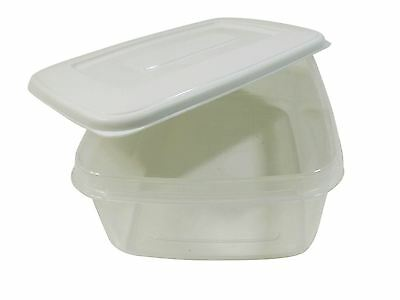 5 X Day Meal Lunch Food Diet Plastic Storage Tubs Pots Box 1.5Lt Each Made In Uk