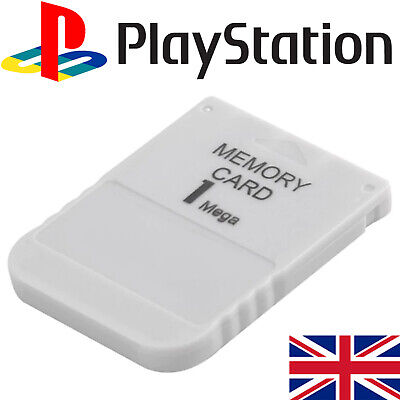 1Mb Memory Card For Sony Playstation 1 Ps1 Psx Ps2 15 Blocks - New Uk