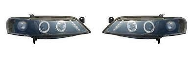 Vauxhall Vectra B 1999-2002 Black Style Angel Eyes Headlights Lamps 1 x Pair