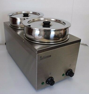 Wet Operation Commercial BAIN MARIE - 2 EXTRA DEEP POTS - Electric by Infernus