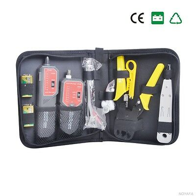 Network Toolkits Cable Tracker Stripper-Strip, RJ45 Plug Crimp Punch Down Tool