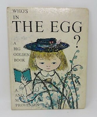 Who's in the Egg? A and M Provensen Vintage Hardcover Kids Book 1970 Oversize